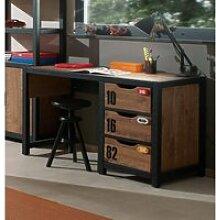 Schreibtisch mit 3 Schubladen CUSCO-12,