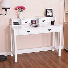 Schreibtisch mit 4 Schubladen, Computertisch mit