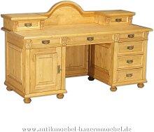 Schreibtisch mit Aufsatz Landhausstil Bauernmöbel