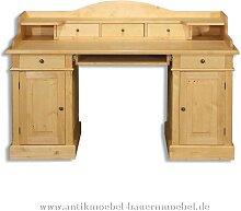 Schreibtisch mit Aufsatz Landhausstil Massivholz