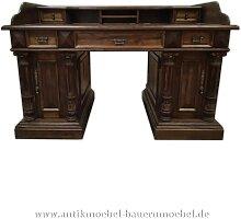 Schreibtisch mit Aufsatz+Säulen Landhausstil