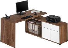 Schreibtisch mit Seitenregalen Made in Germany