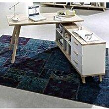 Schreibtisch mit Sideboard SOSLO-01 supermatt