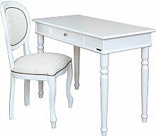 Schreibtisch mit Stuhl weiß