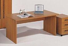 Schreibtisch mit Wangen Kirschbaum Symo Breite 160 cm Pharao24