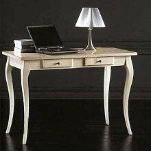 Schreibtisch Nußbaum und Tanganyika Holz cm 120 x