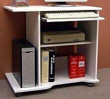 Schreibtisch PC-Tisch Computertisch Weiss