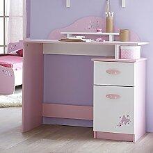 Schreibtisch rosa / weiß Holz Mädchen Computertisch Kinderschreibtisch Jugendschreibtisch Bürotisch Kinderzimmer Jugendzimmer