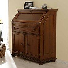 Schreibtisch Sekretär in Nussbaumfarben