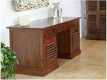 Schreibtisch Sekretär Massivholz Bali II