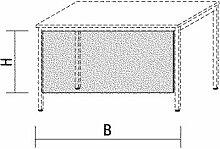 Schreibtisch-Sichtblende, BxH 1800x520 mm, lichtgr
