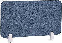 Schreibtisch Trennwand Blau Polster PET Kunststoff