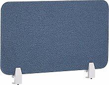 Schreibtisch Trennwand Blau Stoff PET Kunststoff