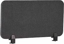 Schreibtisch Trennwand Dunkelgrau Stoff PET