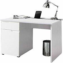 Schreibtisch weiß hochglanz B 120 cm PC