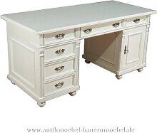 Schreibtisch weiß Landhausstil Massivholz