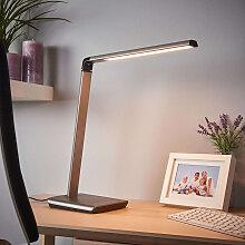 Schreibtischlampe anthrazit mit USB-Anschluss