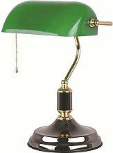 Schreibtischlampe, Bankerlampe mit grünem