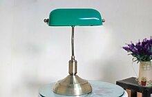Schreibtischlampe Bankerlampe Tischlampe Bronze