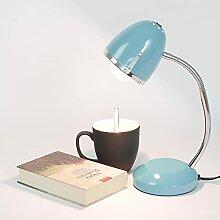 Schreibtischlampe Blau E27 bis 18W 230V Metall
