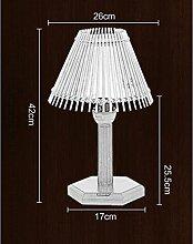 Schreibtischlampe , Chinesische Bambus-Holz Nachttischlampe Beleuchtung Günstige Ausgangsdekoration Pastoral Wohnzimmer Lampe Schlafzimmer Nachtlicht ( größe : Xs )