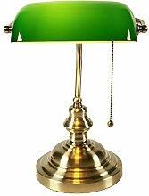 Schreibtischlampe Klassische Vintage Banker Lampe