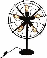 Schreibtischlampe kreative Wohnzimmer Schlafzimmer Lampe europäischen elektrischen Ventilator leuchte