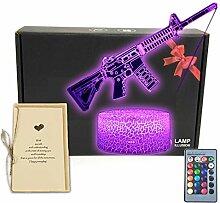 Schreibtischlampe mit automatischem Gewehr-Design,