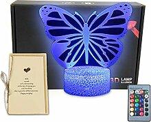 Schreibtischlampe mit Schmetterlingsmotiv,