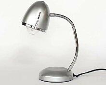 Schreibtischlampe Silber E27 bis 18W 230V Metall