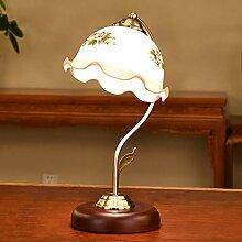 Schreibtischlampen Kamelienglas-Lampenschirm aus