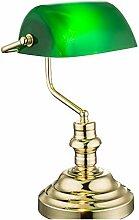Schreibtischleuchte Messing Tischlampe Bankerlampe