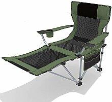 Schreibtischstühle Outdoor Klappstuhl Büro Mittagessen Rest Wohnzimmer TV Stuhl Balkon Klappstuhl Freizeit Stuhl Einstellbare Lager (Farbe : 02)