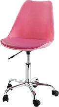 Schreibtischstuhl auf Rollen, rosa Bristol