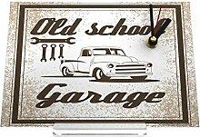 Schreibtischuhr Oldtimer Auto Old-School-Garage Retro Nostalgie