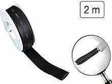 Schrumpfschlauch 13 mm x 2 m schwarz aus PVC Schrumpfrate 2:1 Isolierschlauch
