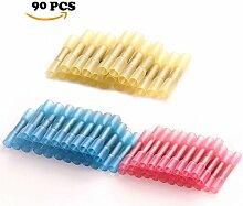 Schrumpfschlauch Butt Splice Terminals Isolierte Electrical Wire Crimp-Stecker Kit, gelb, blau, ro