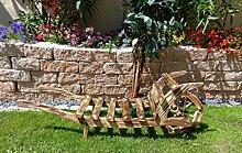 Schubkarre Holz, Gartendeko Karre zum Bepflanzen, Blumentöpfe, Pflanzkübel, Pflanzkasten, Blumenkasten, Pflanzhilfe, Pflanzcontainer, Pflanztröge, Pflanzschale, Schubkarren 120 cm HSOF-120-GEFLAMMT Blumentopf, Holz, geflammt gebrannt amazon schwarz - natur Gartendeko Pflanzgefäß, Pflanztöpfe Pflanzkübel