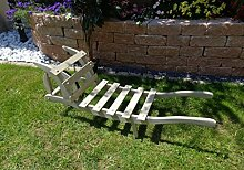 Schubkarre Holz, Gartendeko Karre zum Bepflanzen,