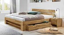 Schubkasten-Bett Kanata Massivholzbett stabil
