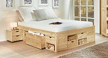 Schubkasten-Bett Oslo Bett mit Bettkasten 140x200