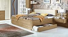Schubkasten-Doppelbett Toride Massivholzbett