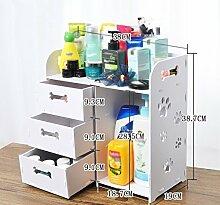 Schublade Kosmetik Aufbewahrungsbox Lagerung Rack Badezimmer Creative Desktop Aufbewahrungsbox Kunststoff Regal ( größe : 37.5*24.4*19cm )