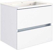 Schubladen Waschtisch in Weiß Einlass-Waschbecken