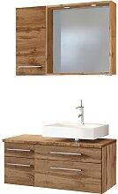 Schubladen Waschtisch und Badspiegel Hängeschrank