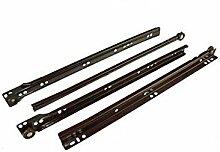 Schubladenauszüge/Läufer unten Fix Metall braun Größe 400mm