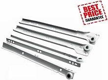 Schubladenauszüge/Läufer unten Fix Metall weiß Größe 550mm (10pairs)