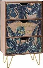 Schubladenboxen Mini Kommode aus Holz mit
