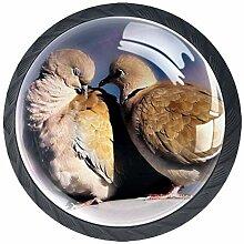 Schubladengriff aus Glas, rund, für Schrank,