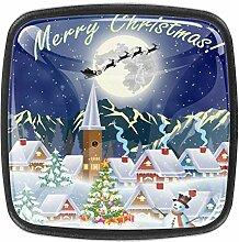 Schubladengriffe mit Weihnachtsbaum und